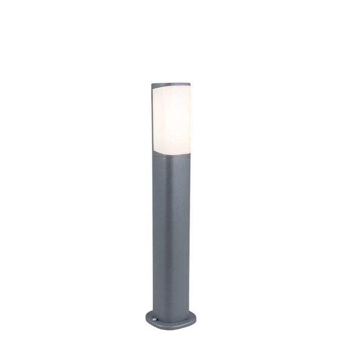 Modern-Outdoor-Pole-50cm-Dark-Grey-incl.-LED---Rico