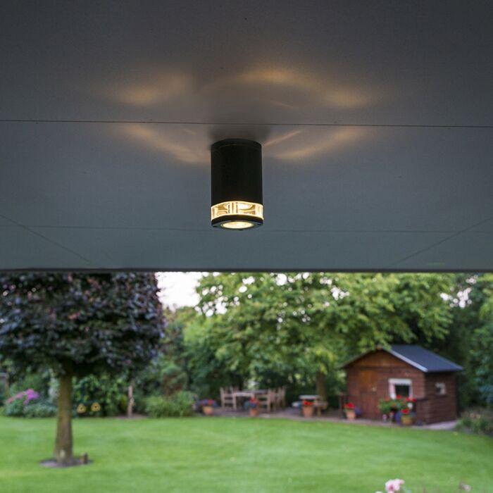 Modern-Ceiling-Lamp-Dark-Grey-IP54---Fox