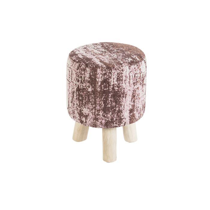Vintage-Round-Stool-Faded-Pink-30x30x40cm---Kochi