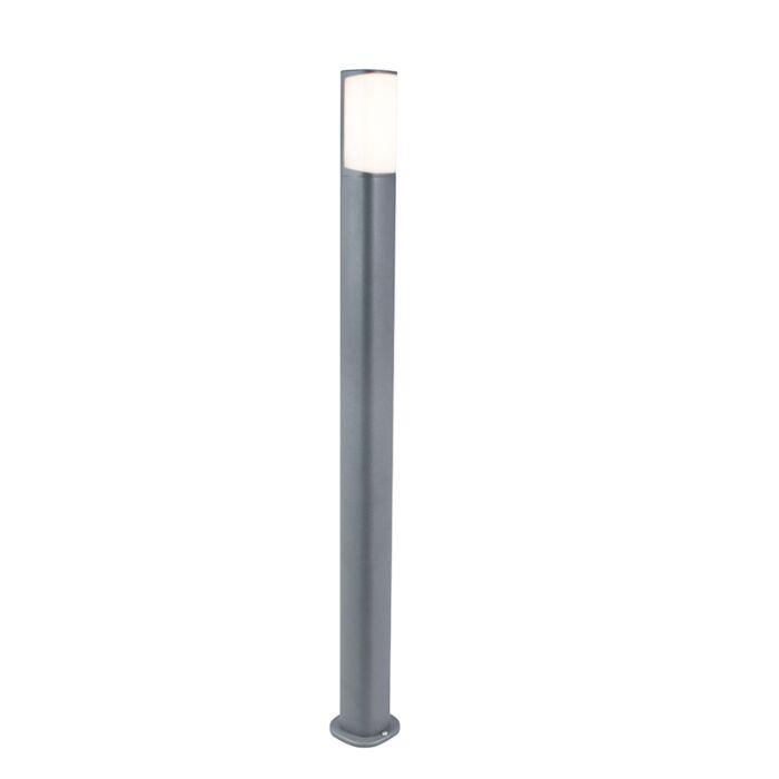 Modern-Outdoor-Pole-100cm-Dark-Grey-incl.-LED---Rico