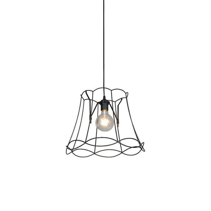 Retro-hanging-lamp-black-40-cm---Granny-Frame