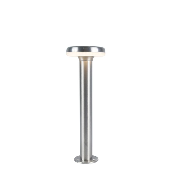 Modern-Outdoor-Pole-45cm-Steel-incl.-LED---Terres