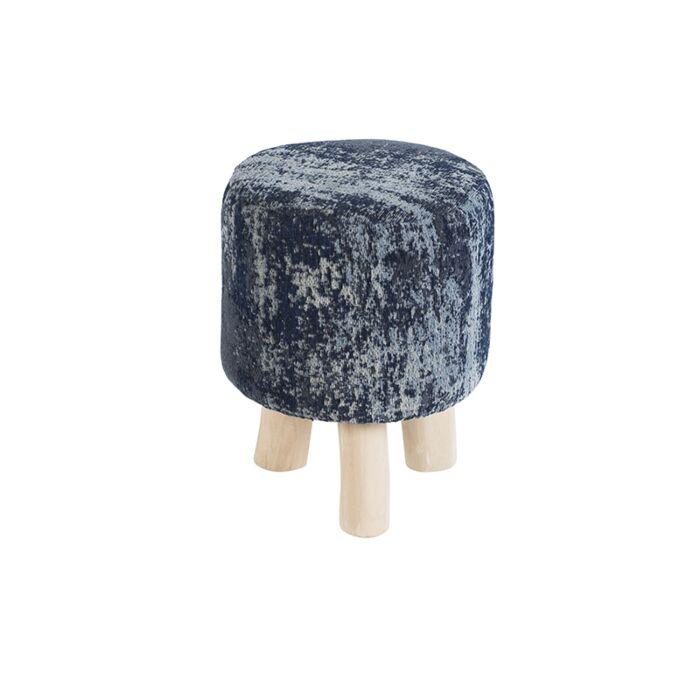 Vintage-Round-Stool-Blue-30x30x40cm---Kochi