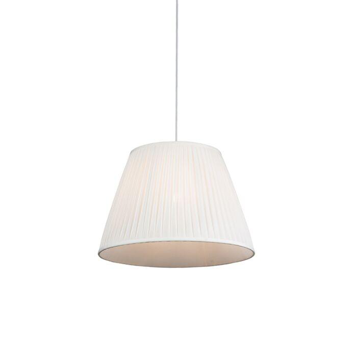 Retro-hanging-lamp-cream-45-cm---Pleated