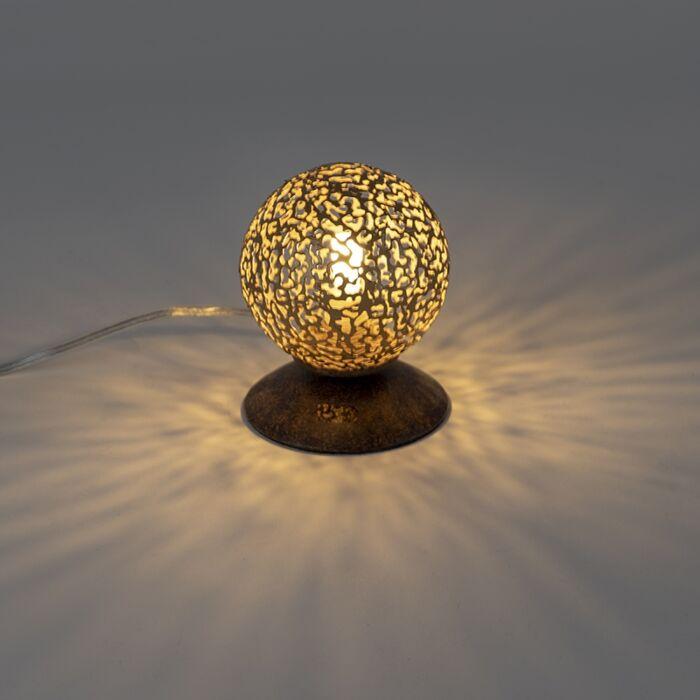 Rural-table-lamp-rust-brown-10-cm---Crete