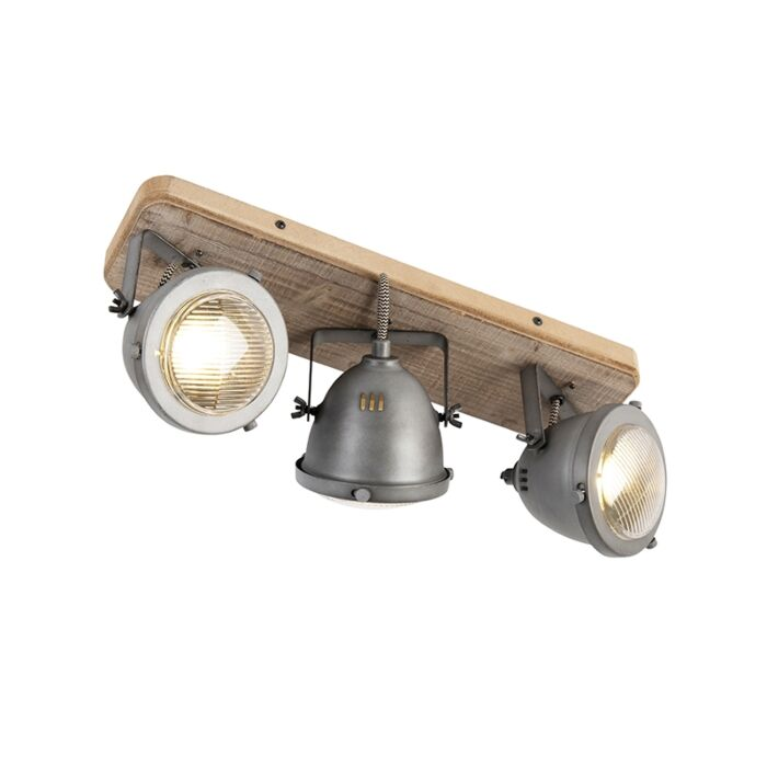 Industrial-spot-steel-with-wood-tiltable-3-light---Emado