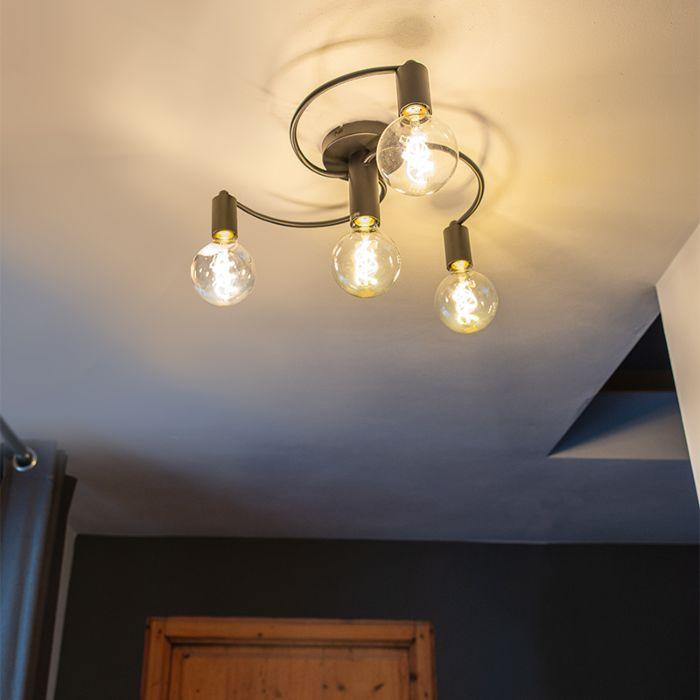 Art-Deco-Ceiling-Lamp-4-Black---Facil