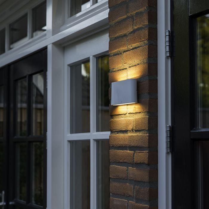 Wall-lamp-white-17.5-cm-incl.-LED-IP65---Batt