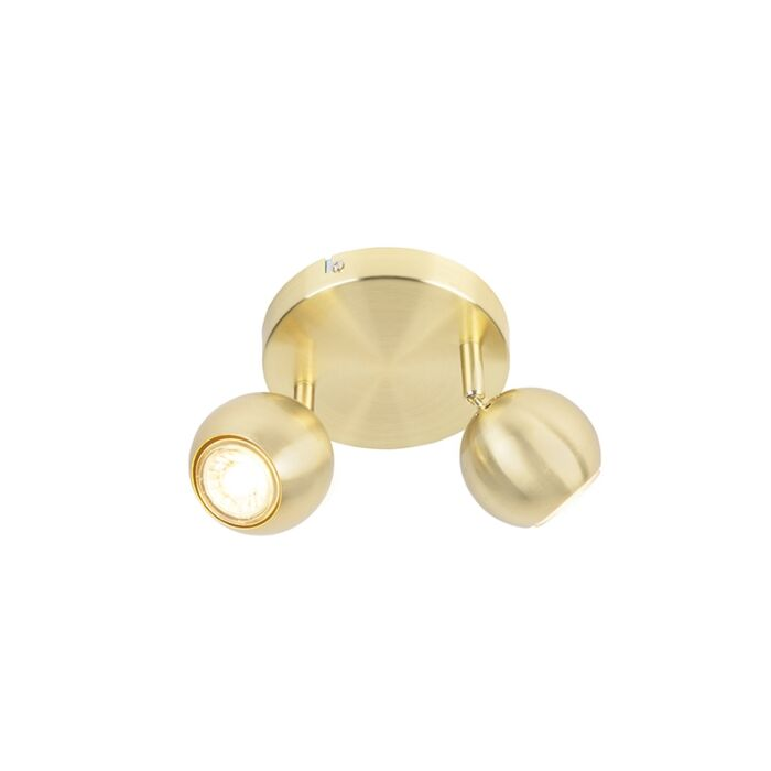 Retro-round-spot-brass-with-ceiling-plate-2-light---Gissi