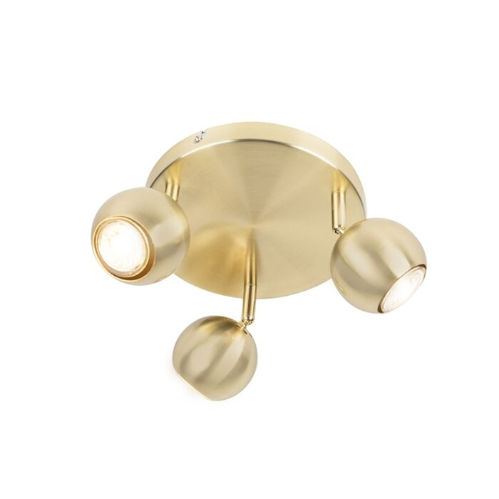 Retro-round-spot-brass-with-ceiling-plate-3-lights---Gissi