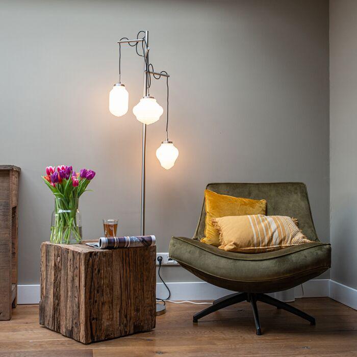 Art-Deco-floor-lamp-steel-with-opal-glass-3-light---Bolsena