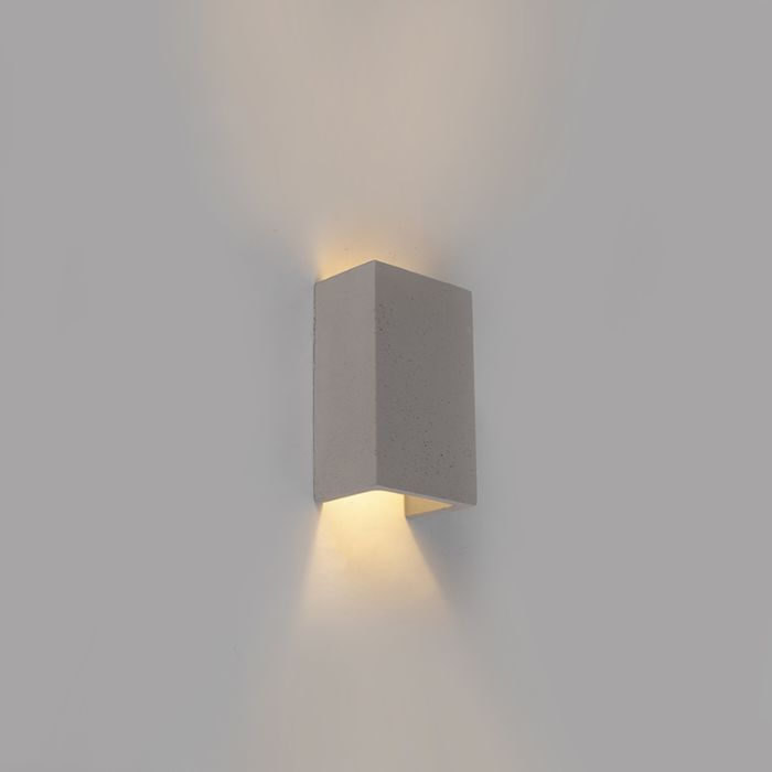 Industrial-wall-lamp-gray-concrete-rectangle---Meaux