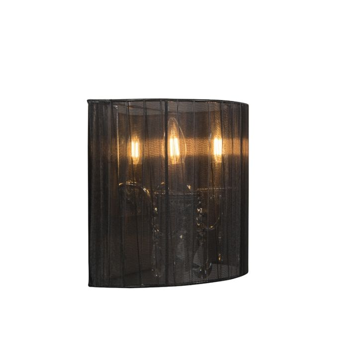 Set-of-2-chrome-wall-lamps-with-black-shade---Ann-Kathrin-2