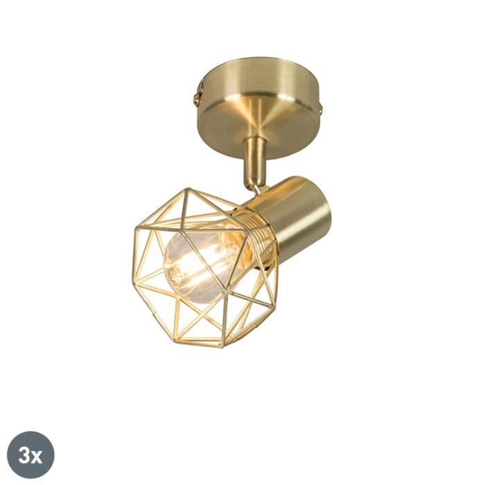 Set-of-3-Art-Deco-Adjustable-Spotlight-Brass---Mosh-1