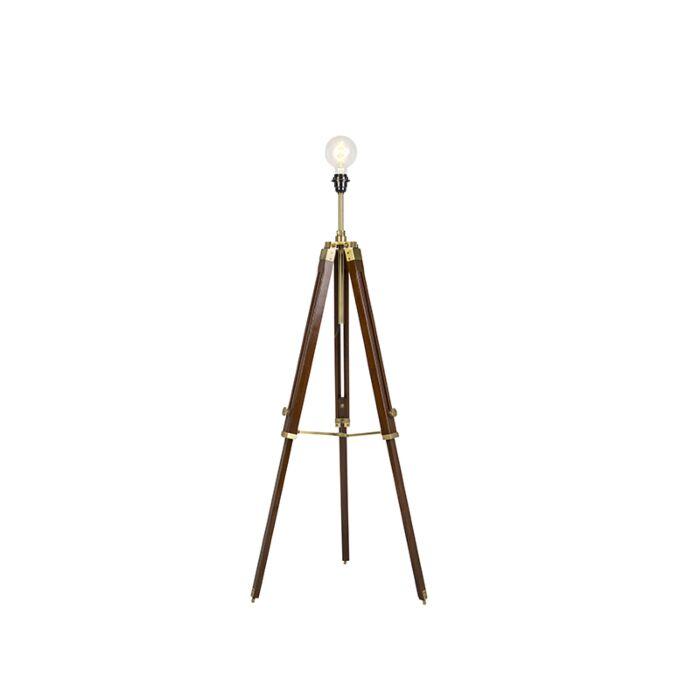 Vintage-floor-lamp-brass-tripod---Cortin