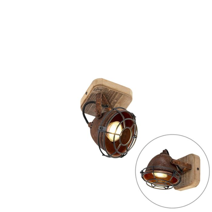 Industrial-spot-rust-brown-with-wood-tiltable---Gina