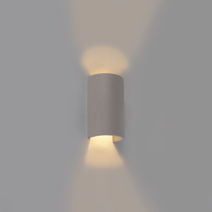 Industrial-Half-Round-Wall-Lamp-Concrete---Meaux