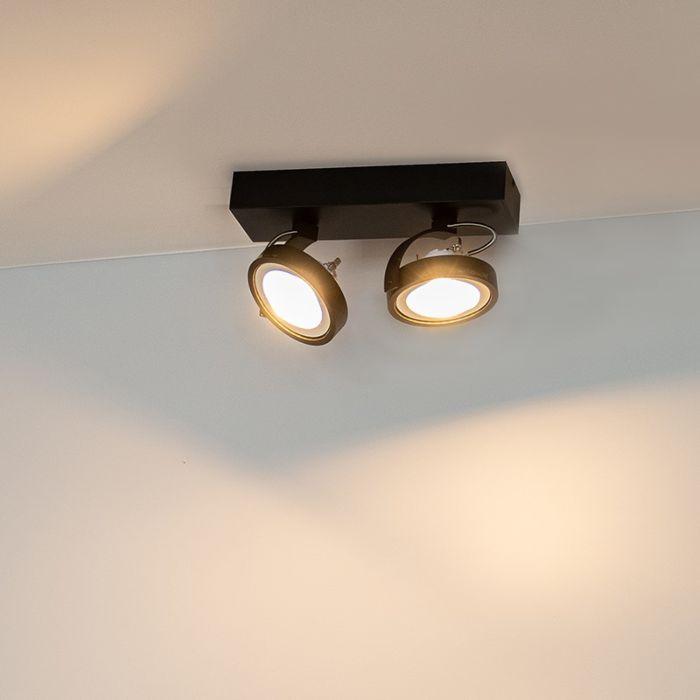 Design-spot-black-adjustable-2-light-incl.-2-x-G53--Go-Large