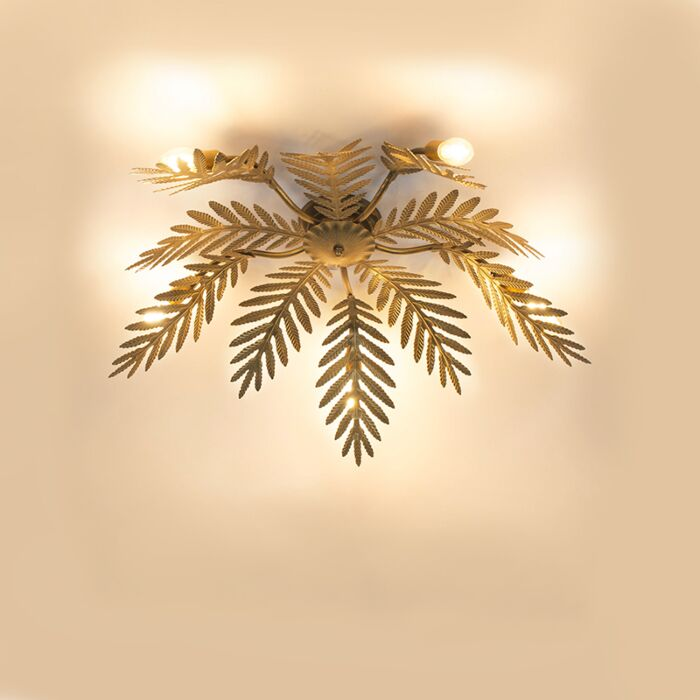 Vintage-Ceiling-Lamp-Leaf-5-Gold---Botanica