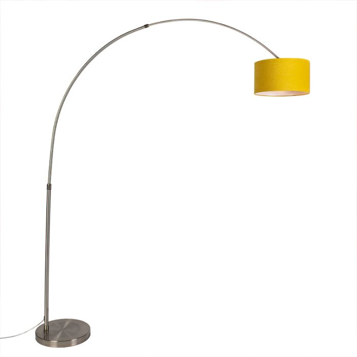 Steel-arc-lamp-with-yellow-shade-35/35/20---XXL