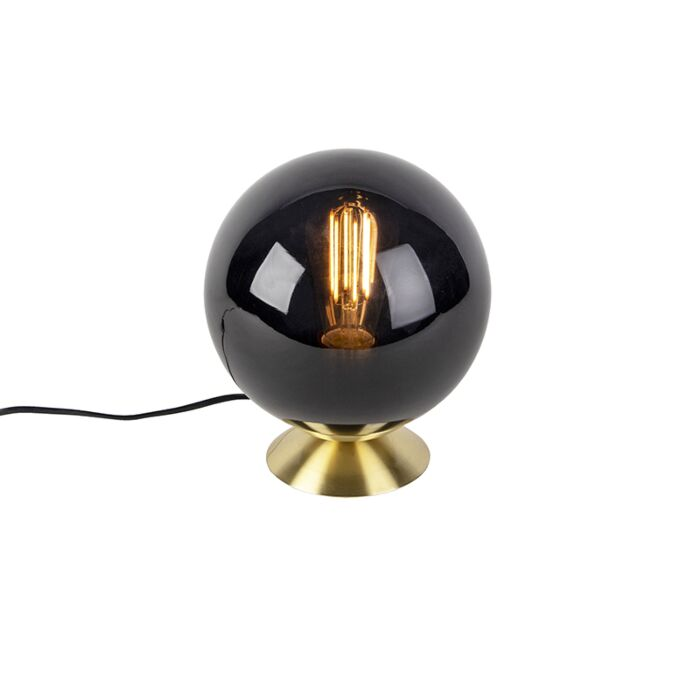Art-Deco-table-lamp-brass-with-black-glass---Pallon