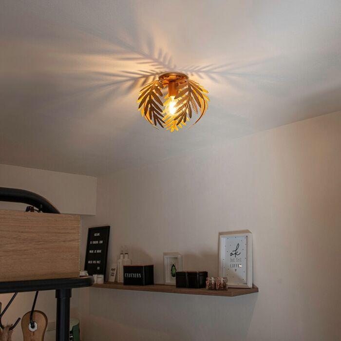 Vintage-ceiling-lamp-gold-24-cm---Botanica