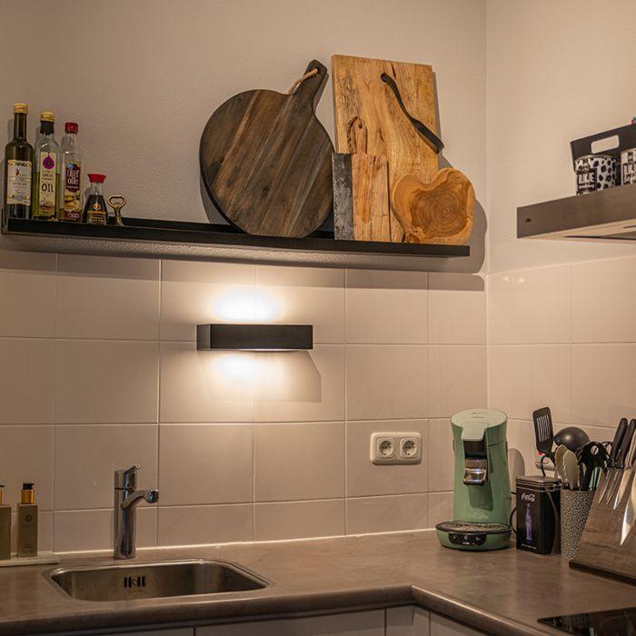 Modern-Sleek-Wall-Lamp-25cm-Black---Houx
