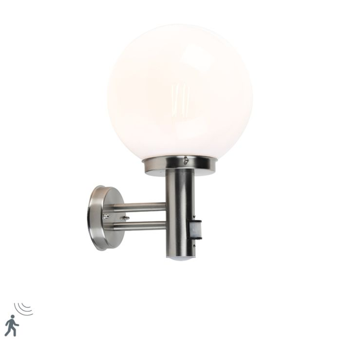 Outdoor-wall-lamp-steel-stainless-steel-IP44-with-motion-detector---Sfera