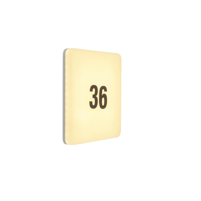 Modern-square-wall-lamp-incl.-LED-with-number-sticker-sheet---Plater