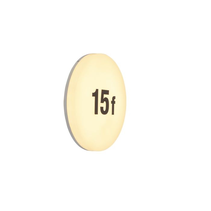 Modern-round-wall-lamp-incl.-LED-with-number-sticker-sheet---Plater