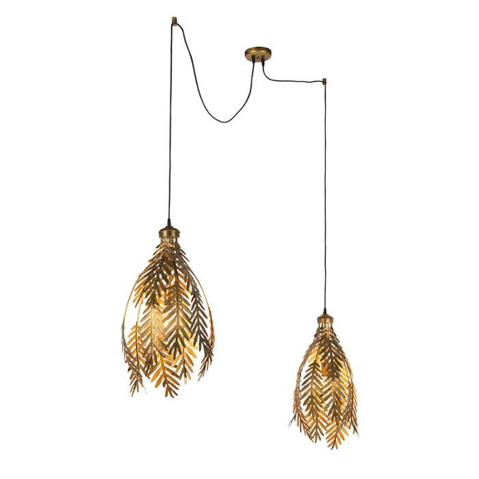 Vintage-Pendant-Lamp-Leaf-2-Gold---Botanica