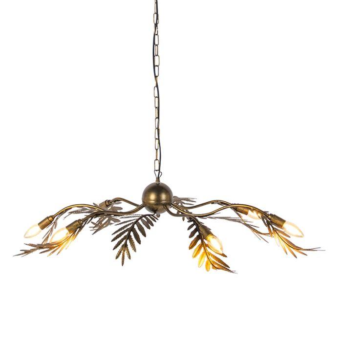 Vintage-Pendant-Lamp-Leaf-6-Gold---Botanica