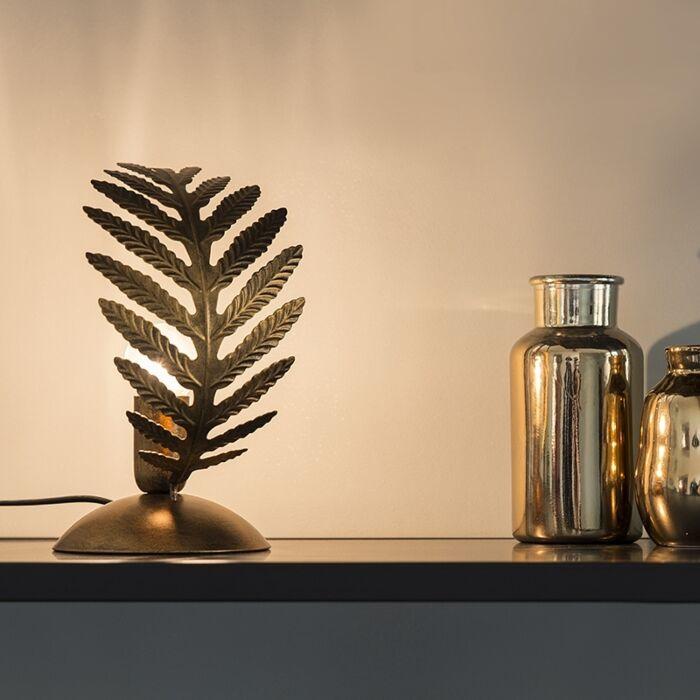 Vintage-Table-Lamp-Small-Leaf-Gold---Botanica