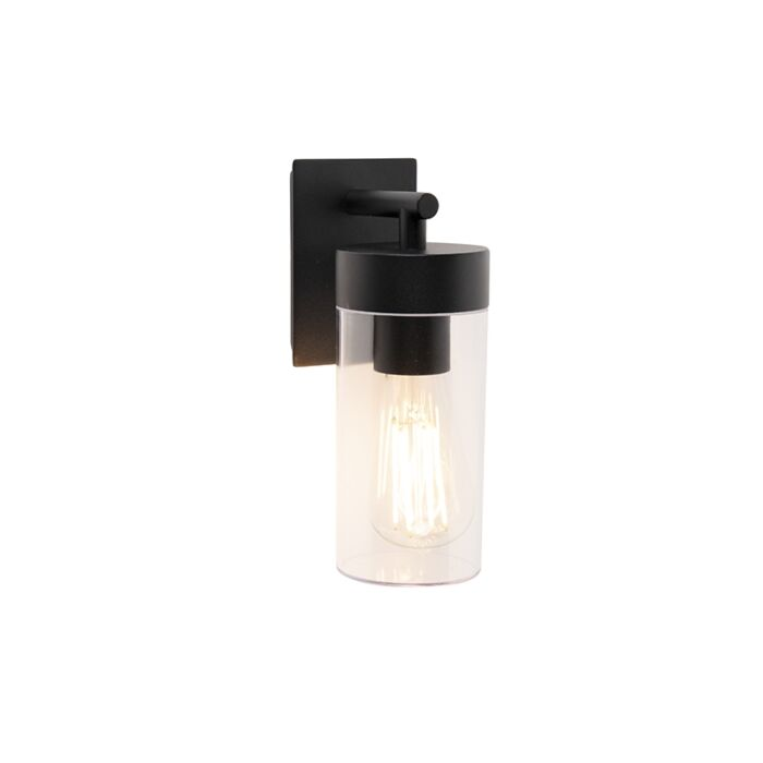 Modern-outdoor-wall-lamp-black---Rullo