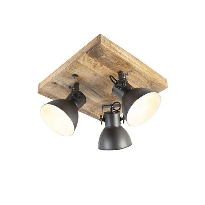 Industrial-spot-black-with-mango-wood-3-lights---Mangoes