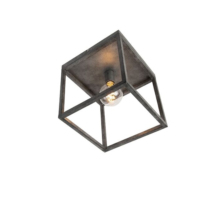 Modern-ceiling-lamp-antique-silver---Big-Cage