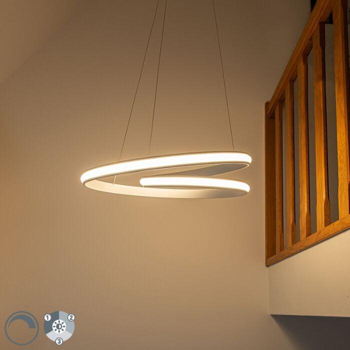 Modern-hanging-lamp-white-55-cm-incl.-LED-3-steps-dimmable---Rowan