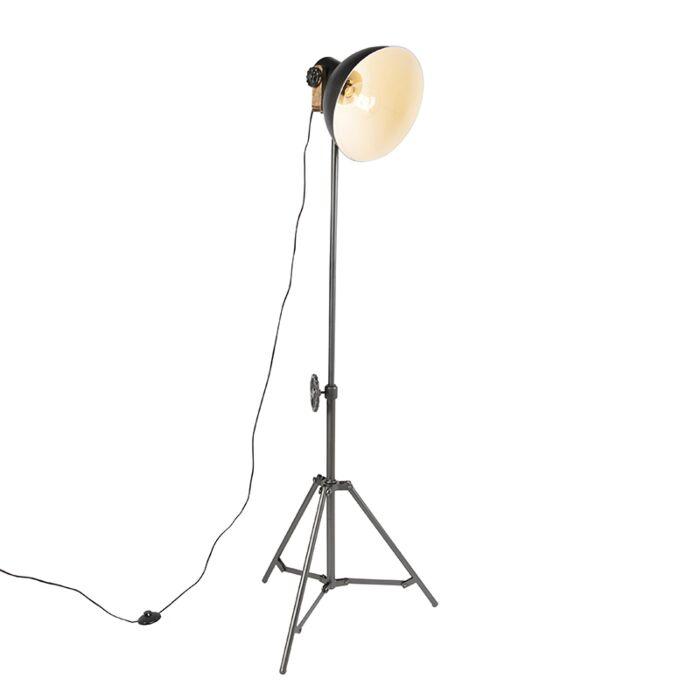 Industrial-floor-lamp-tripod-black---Mangoes