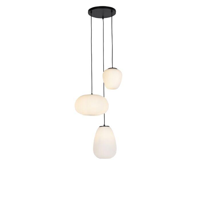 Design-hanging-lamp-black-3-lights-with-opal-glass---Hero