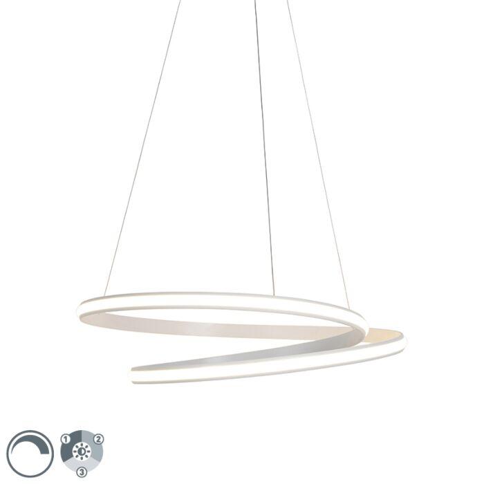 Modern-hanging-lamp-white-74cm-incl.-LED-3-steps-dimmable---Rowan