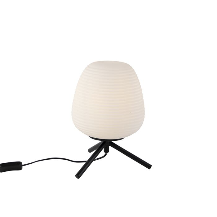 Design-table-lamp-black-20-cm-with-opal-glass---Hero