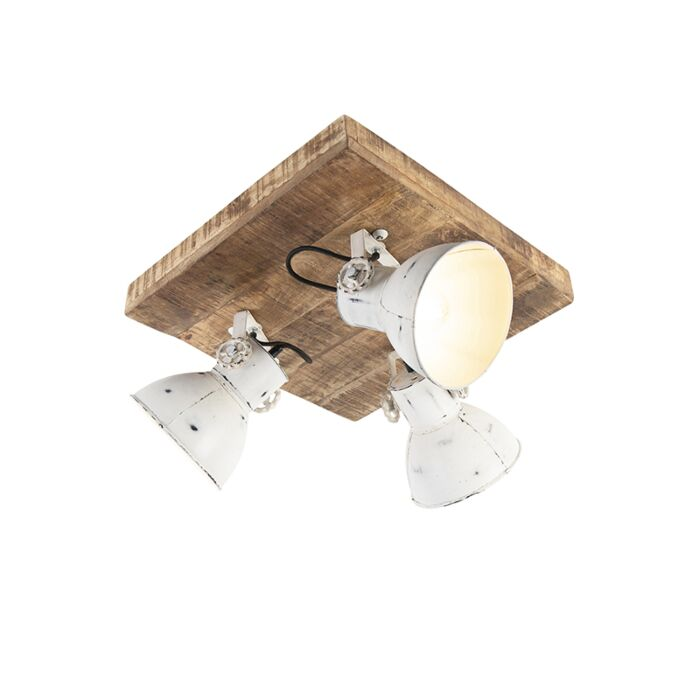Industrial-spot-white-with-mango-wood-3-light---Mangoes