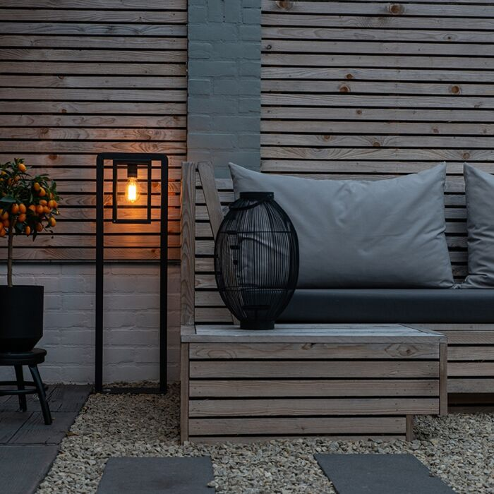 Modern-Square-Floor-Lamp-Black---Rotterdam-Balanco