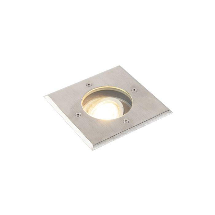 Modern-ground-spot-steel-13.5-cm-IP67---Basic-Square