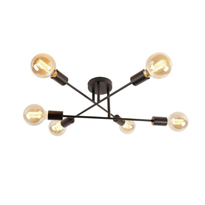 Industrial-ceiling-lamp-black-6-lights---Sydney-Bondi