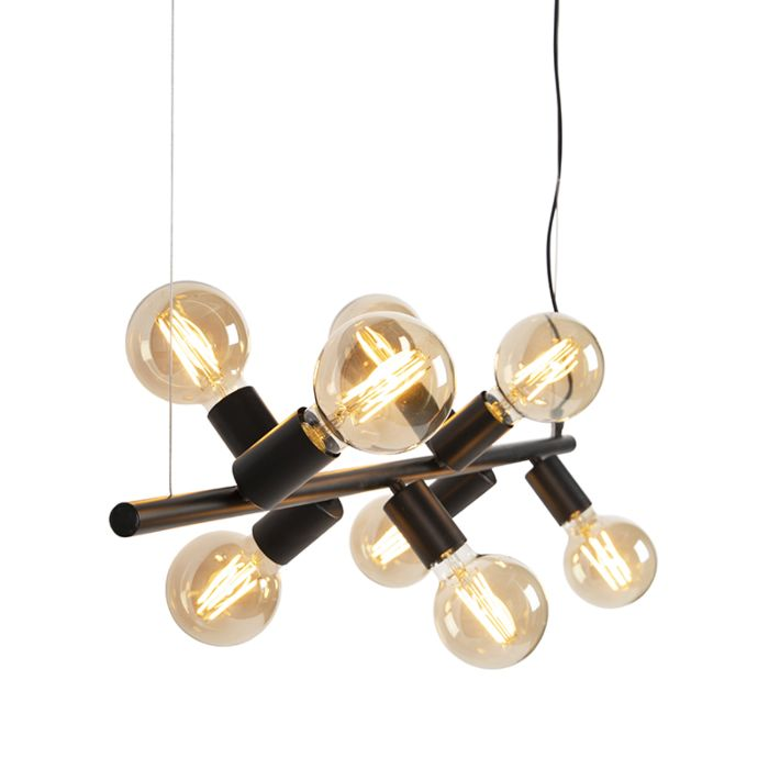 Scandinavian-Pendant-Lamp-8-Black---Facil-Tube