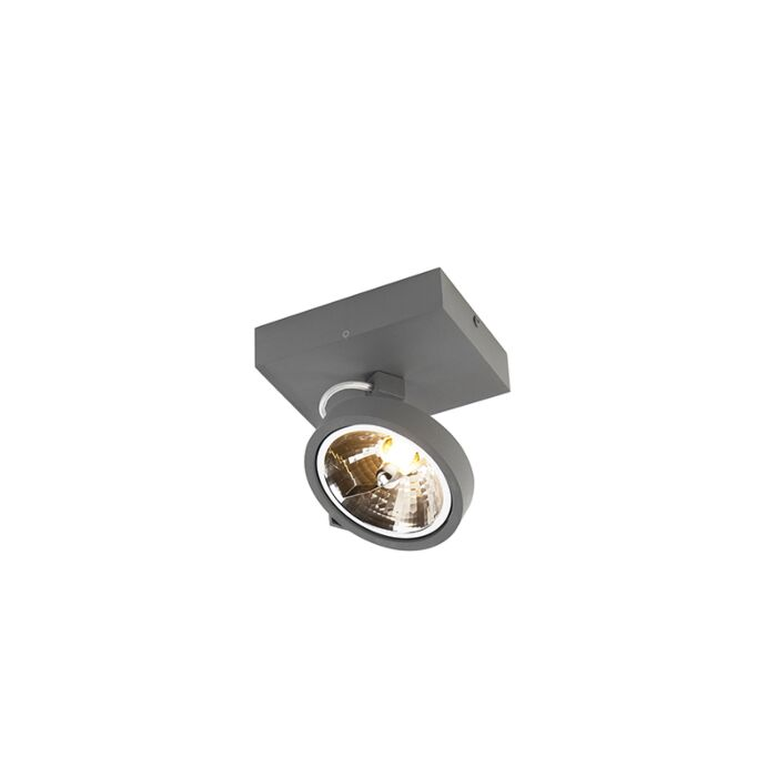 Design-spotlight-gray-adjustable-1-light-incl.-LED---Go