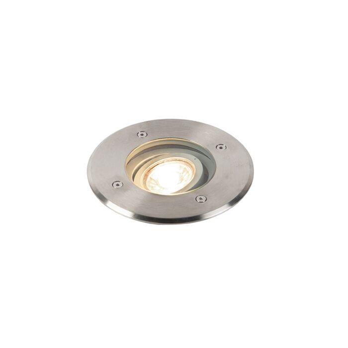 Modern-ground-spot-steel-16.5-cm-IP67---Basic-Round