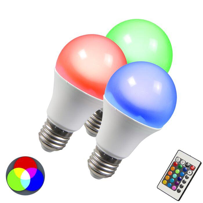 Set-of-3-E27-LED-RGB-3W