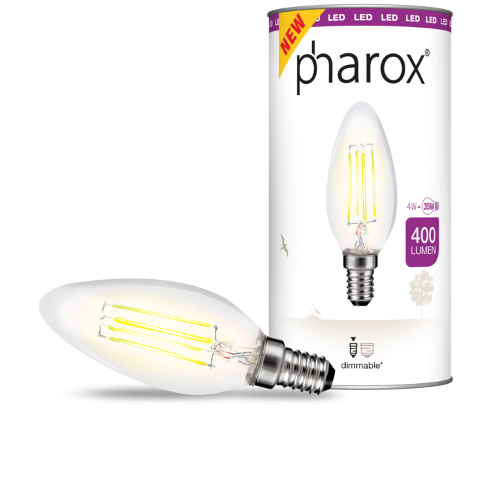 Pharox-LED-filament-Bulb-Candle-Clear-400-lumen